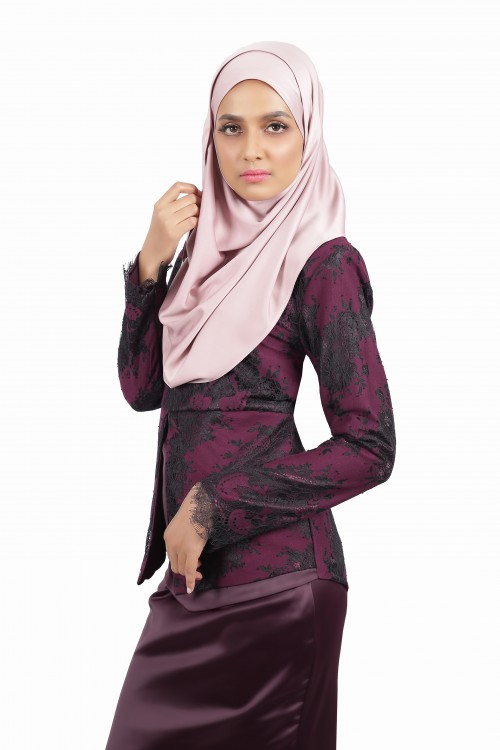 Darleena Lacey Kurung Dark Purple