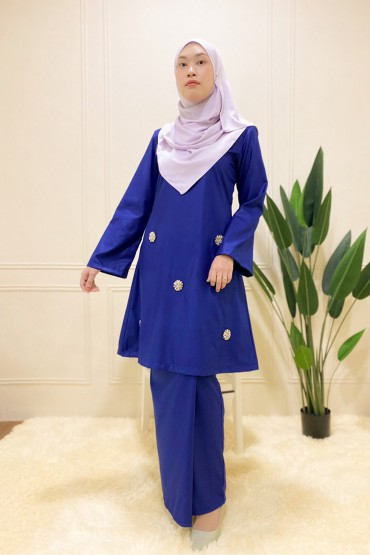 Iqasha Kurung Royal Blue